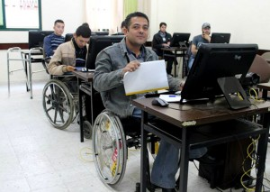 متحدى الإعاقة في غزة